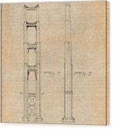 1932 San Francisco Golden Gate Bridge Antique Paper Patent Print Wood Print