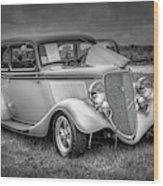 1933 Ford Tudor Sedan With Trailer Wood Print