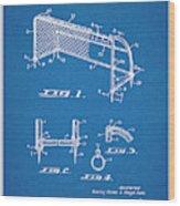1933 Soccer Goal Blueprint Patent Print Wood Print