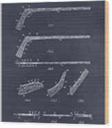 1934 Hockey Stick Patent Print Blackboard Wood Print