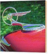 1934 Pontiac Softail Hood Ornament Wood Print