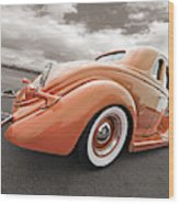 1935 Ford Coupe In Bronze Wood Print