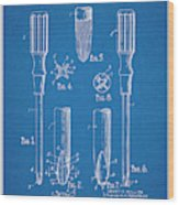 1935 Phillips Screw Driver Blueprint Patent Print Wood Print