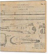 1935 Union Pacific M-10000 Railroad Antique Paper Patent Print Wood Print