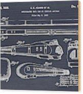 1935 Union Pacific M-10000 Railroad Blackboard Patent Print Wood Print