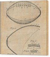 1936 Reach Football Antique Paper Patent Print Wood Print