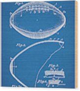 1936 Reach Football Blueprint Patent Print Wood Print
