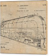1937 Jabelmann Locomotive Antique Paper Patent Print Wood Print