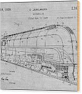 1937 Jabelmann Locomotive Gray Patent Print Wood Print