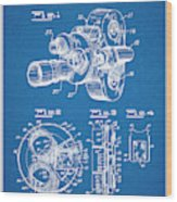 1938 Bell And Howell Movie Camera Patent Print Blueprint Wood Print