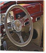 1938 Pontiac Silver Streak Interior Wood Print