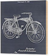 1939 Schwinn Bicycle Blackboard Patent Print Wood Print