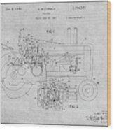 1942 John Deere Tractor Gray Patent Print Wood Print