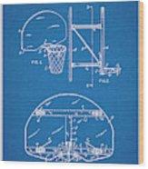 1944 Basketball Goal Blueprint Patent Print Wood Print