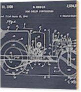 1946 Road Roller Blackboar Patent Print Wood Print