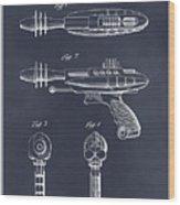 1953 Ray Gun Toy Pistol Blackboard Patent Print Wood Print