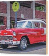1955 Chevrolet Bel Air  Wood Print