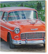 1955 Chevrolet Bel Air Nomad Wood Print