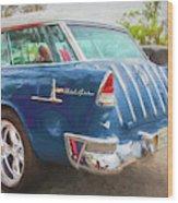 1955 Chevrolet Bel Air Nomad Station Wagon 228 Wood Print