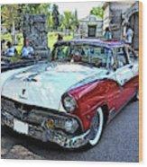 1955 Ford Fairlane At Show Wood Print