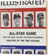 1958 All Star Game Preview Sports Illustrated Cover Wood Print