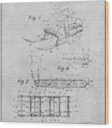 1960 Bombardier Snowmobile Gray Patent Print Wood Print