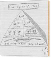 1960s Food Pyramid Wood Print