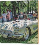 1961 Chevrolet Corvette 002 Wood Print