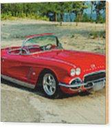 1962 Corvette Roadster Custom Wood Print