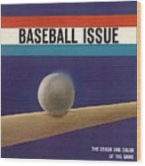 1963 Mlb Baseball Preview Sports Illustrated Cover Wood Print