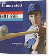 1963 Mlb Baseball Preview Issue Sports Illustrated Cover Wood Print