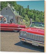 1964 And 1963 Chevrolet Impala Convertibles Wood Print