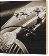 1964 Jaguar Mk2 Saloon Hood Ornament And Emblem-1421bscl Wood Print
