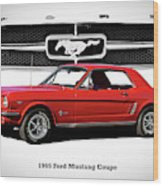 1965 Mustang 289 Coupe Wood Print