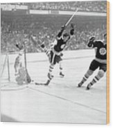 1970 Stanley Cup Finals - Game 4 St Wood Print