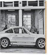 1972 Porsche 911 Monochrome Wood Print
