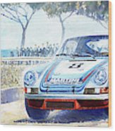 1973 Targa Floria Porsche 911 Carrera Rsr Martini Racing Lennep Muller Winner  Wood Print