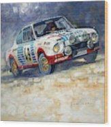 1977 Rallye Monte Carlo Skoda 130 Rs Blahna Hlavka Winner Wood Print