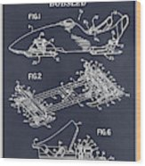 1982 Bobsled Blackboard Patent Print Wood Print