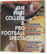 1982 College & Pro Football Spectacular Sports Illustrated Cover Wood Print