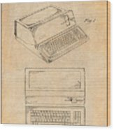 1983 Steve Jobs Apple Personal Computer Antique Paper Patent Print Wood Print