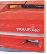 1986 Pontiac Trans Am With Front Lights And Logos Wood Print
