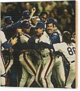 1986 World Series Mets Wood Print