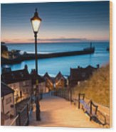 199 Steps Of  Whitby In The  North Wood Print