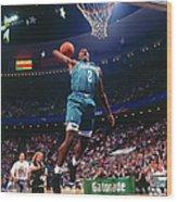 1992 Slam Dunk Contest Larry Johnson Wood Print