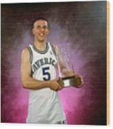 1995 Nba Rookie Of The Year - Jason Kidd Wood Print