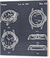1999 Rolex Diving Watch Patent Print Blackboard Wood Print