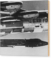 1x15 Rocket Plane Launched From The B52 Carrying It, 1962 Wood Print