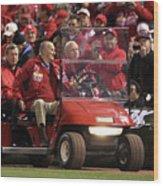 2011 World Series Game 6 - Texas 2 Wood Print