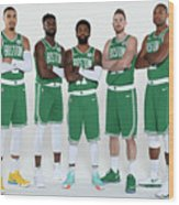2018-19 Boston Celtics Media Day Wood Print